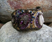 Ancient Goddess Awakening - bracelet, leather cuff