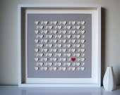Wedding Gift, Personalized 3D Song Hearts - size LARGE - commemorate song lyrics, vows (Unique anniversary present)