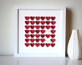 Personalized Valentine's Day Gift - 3D Song Hearts - commemorate song lyrics, love letter (Personalized wedding, anniversary gift)