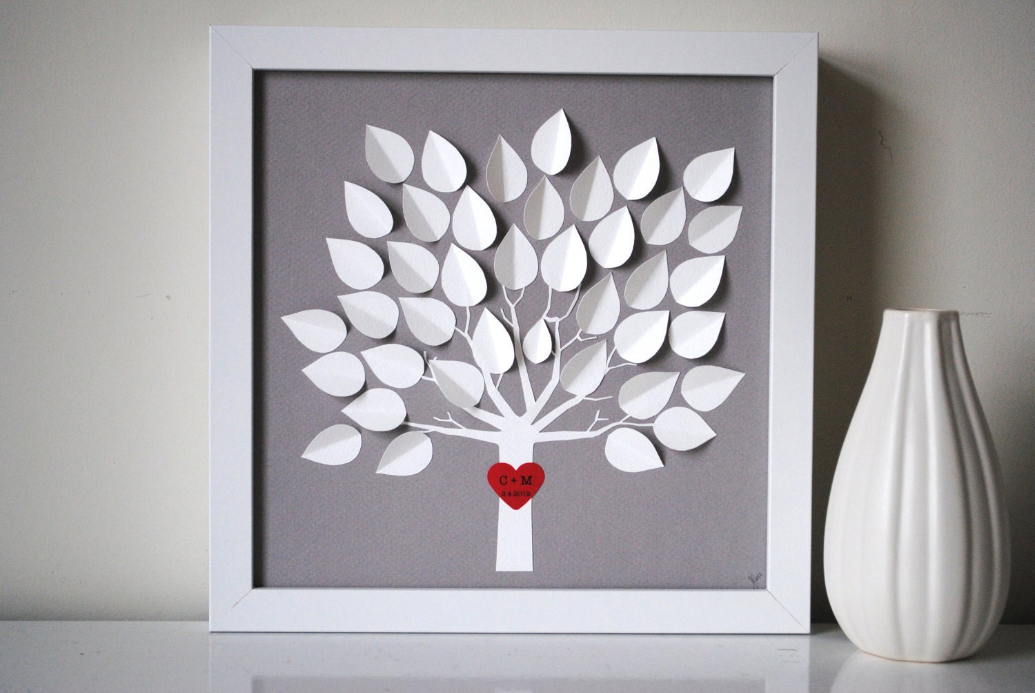 Wedding Guest Book Alternative Personalized 3D By SuzyShoppe