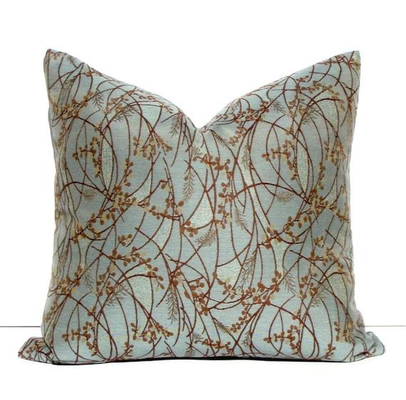 20x20 Decorative Blue Pillow Willow Wisp Throw Pillow