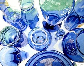 BLUES - watercolor reproduction