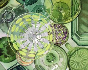 CIRCLES, No. 3  - watercolor reproduction