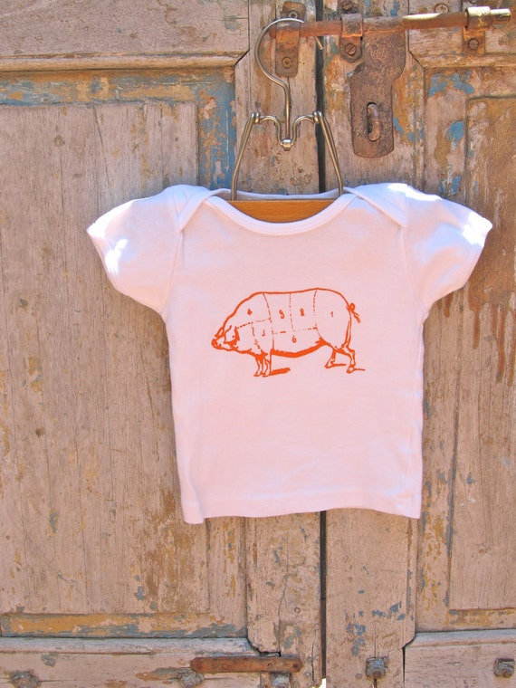 Butcher Shop Series: Orange Pig T-Shirt