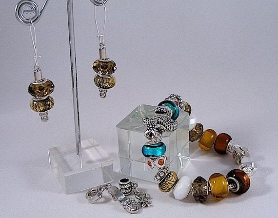 At-The-Beach Bracelet & Earrings Set - Pandora Style