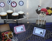 Printable Pirate Party Food Tents