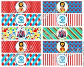 Customizable Printable Circus Birthday Party Napkin Wraps (DIY Print&Wrap)
