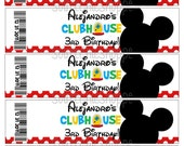 Custom Printable Mickey Mouse Clubhouse Birthday  Party Theme Water Bottle Wrappers