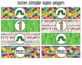 Custom Printable Hungry Caterpillar Birthday  Party Theme Napkin Wrappers