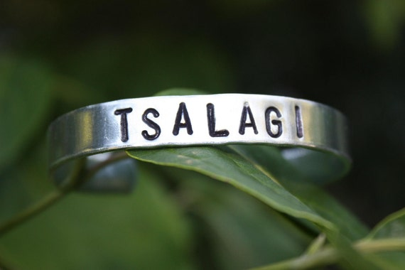 TSALAGI Cherokee Hand Stamped Cuff Bracelet - Native American Inspired - Tribal Name Cuff - Gift For Her - Gift For Him - Non Tarnish Cuff