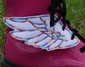 Rainbow Multi Color Thread Percy Jackson Hermes Mercury Inspired Shoe Wings