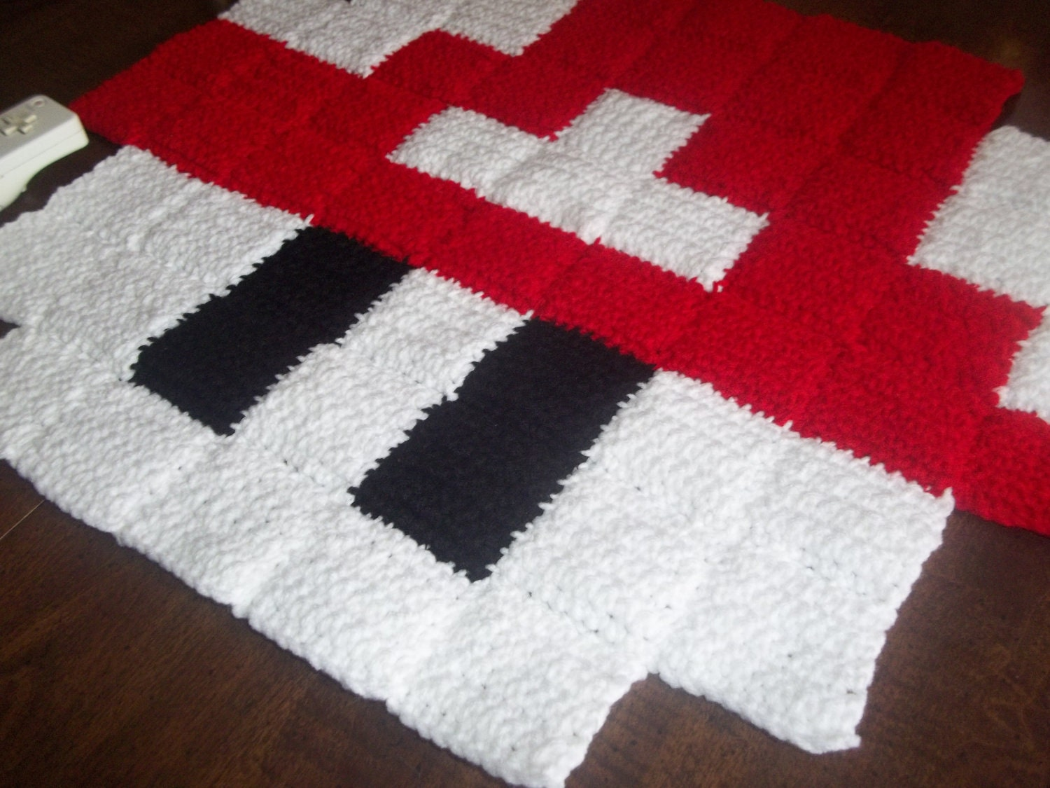 Crochet mario mushroom mini rug no shipping sale by harmonden Controller rug