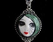 OOAK - Goth - Green Princess - Necklace