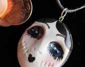 OOAK - Goth - Art doll - Necklace - Zombie Flapper