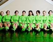 Monogrammed Bride and Bridesmaid Gift Spa Robes Set of 8