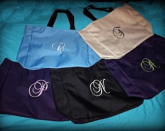 Personalized Beach Bag, Gym Bag, Bridesmaid Totes Set of 5, Brides Tote Bag, Mongrammed Bag, Large Tote Bag Personalized Set of 5