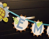 New Arrival Customized Name Banner, Turtles, Frogs, Bees, and Dragonflies
