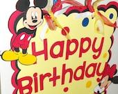 Mickey Mouse Happy Birthday Door Sign, Minnie Mouse Door Sign