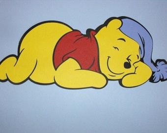 Sleeping Winnie the Pooh Die Cut