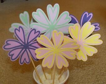 Flower Cake Topper Die Cut, Flower Centerpiece