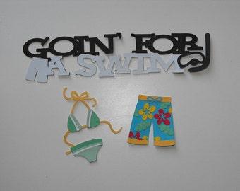 Bathing Suit Die Cut, Bikini and Shorts Summer Die Cut