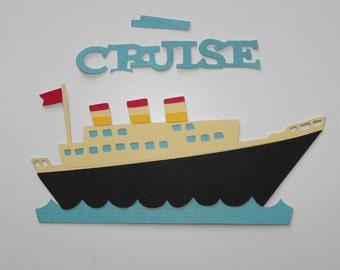 Cruise Ship Die Cut, Vacation Die Cut