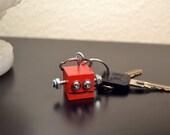 Red Robot Key Ring, Functional Art