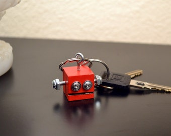 Red Robot Key Ring, Functional Art