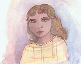 Original Watercolor Rozena
