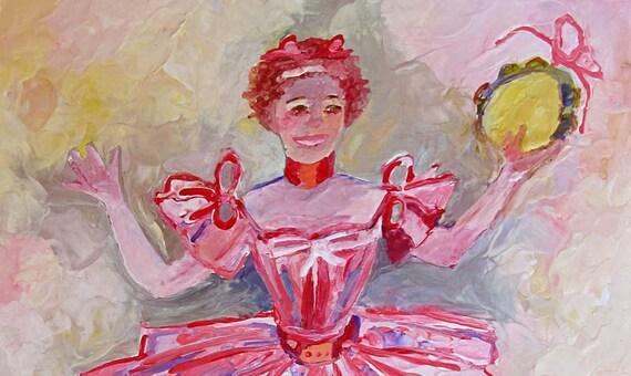 fine art photograph print Encaustic TAmborine Girl