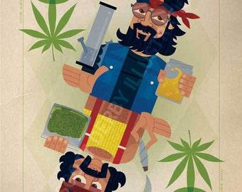 Toker Jokers (Cheech and Chong) - Giclée print on archival paper