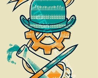 Ode to Alex (A Clockwork Orange): 3 color screen print