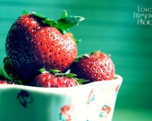 Fine Art Food Photography Print - Green Strawberry Dream No.2 - 8x10 Print
