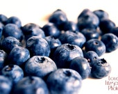 Fine Art Food Photography Print - Sweet Summer Blueberries No. 5