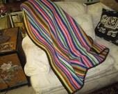 Jonathan Adler Inspired Striped Crotchet Throw