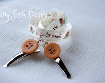 On-the-Go Bib Clip / Nursing Cover Clips Snips and Snails