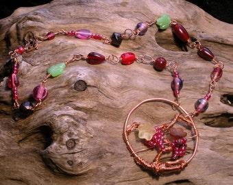 Catawba grape vine necklace