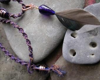 A Mallard feather gem of a choker.
