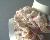 RESERVED for Gali Romantic RUFFLED SCARF