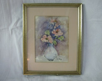 vintage floral watercolor, shabby chic