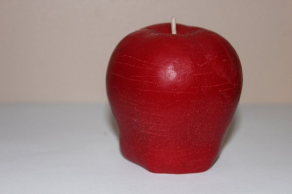 apple shaped candle.... GReat gift for a special teacher