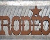 Rodeo Rustic Metal Sign