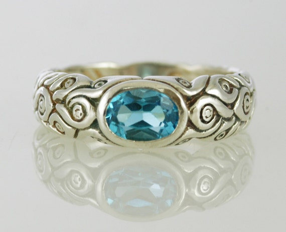 Magical Blue Topaz Ring