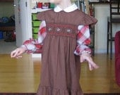 Brown Back to School Dress