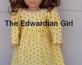 OOAK yellow doll dress