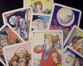 Nine card spread tarot card reading