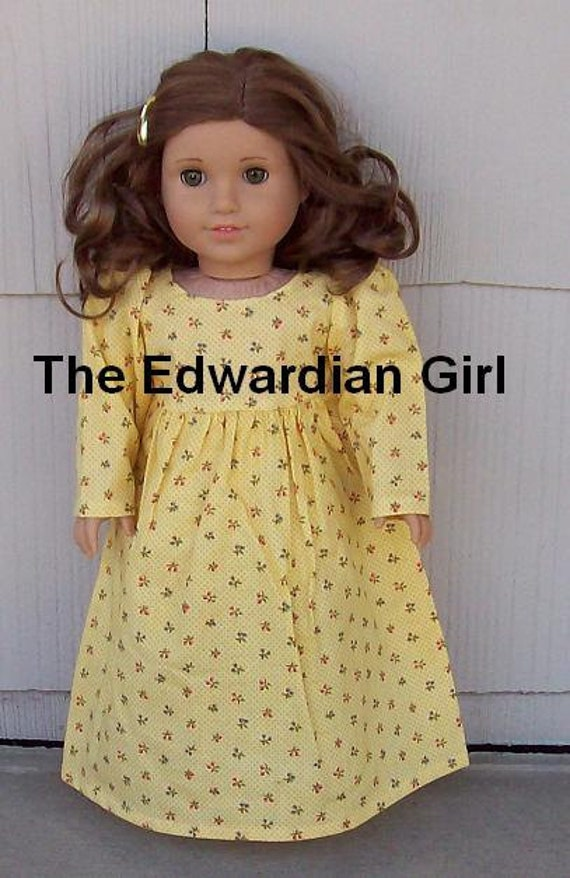OOAK yellow doll dress