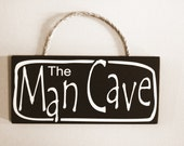 Man Cave Wood Sign  Fathers Day Gift The Man Cave Gift for Men
