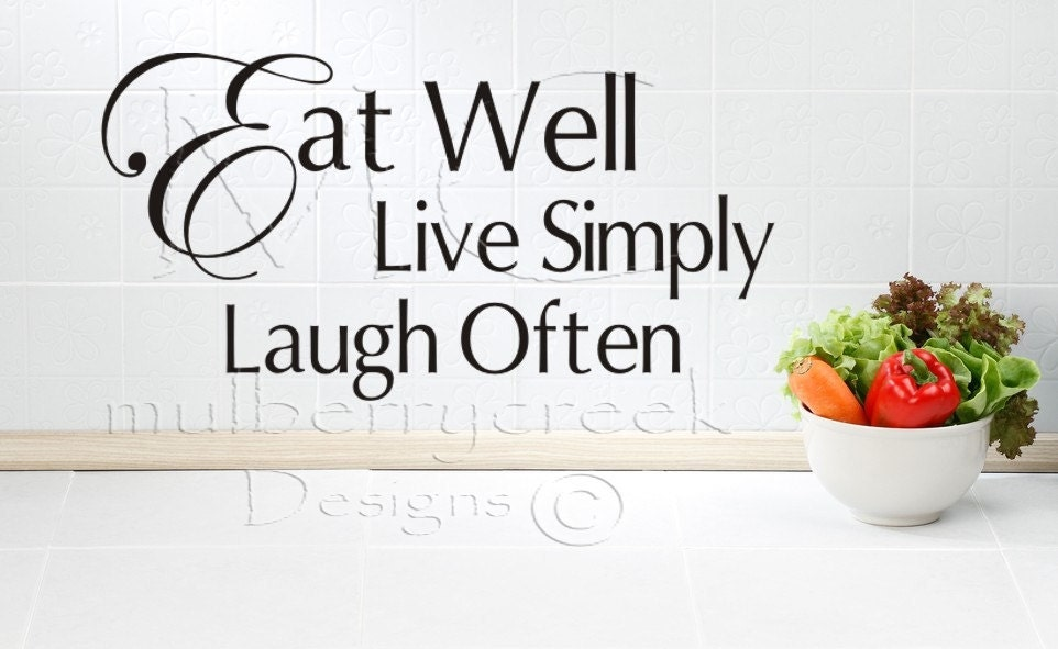 Small kitchen wall vinyl quotes quotesgram for Kitchen quotation