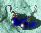 Cobalt Sphere Earrings